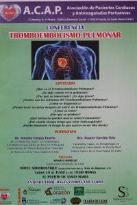 imagen cartel Tromboembolismo Pulmonar